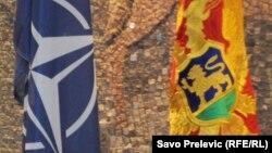 Zastave NATO i Crne Gore, ilustrativna fotografija