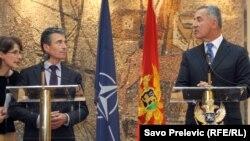Anders Fogh Rasmussen i Milo Djukanovic u Podgorici