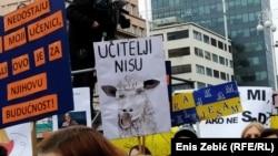 Sa prosvjeda u Zagrebu