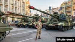 Репетиція військового параду в Києві до Дня Незалежності України, 19 серпня 2016 року