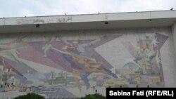 Mangalia,România 2016: Casa de Cultura. mozaic din 3 milioane de bucati