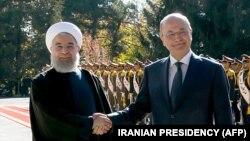 دیدار برهم صالح و حسن روحانی در تهران در ۲۶ آبان سال جاری.