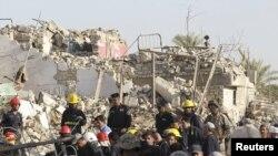 خرابی ناشی یکی از حمله های روز چهارشنبه در بغداد