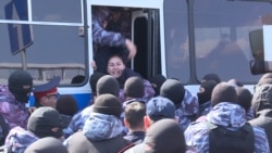Dozens Arrested During Protests In Kazakh Capital