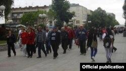 Протест на стечајци во Куманово.