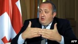 Грузия президенті Геогрий Маргвелашвили AFP арнасына сұхбат беріп отыр. Тбилиси, 19 мамыр 2015 жыл.