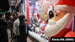 Christmas items shopping in central Tehran, on Wednesday, December 26, 2018.
