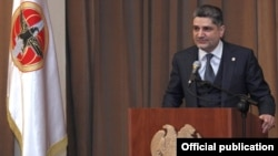 Armenia - Prime Minister Tigran Sarkisian addresses Republican Party activists in Gyumri, 6Mar2012.