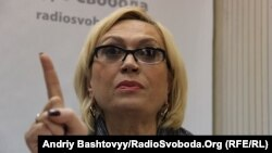 Ukrainian parliamentarian Oleksandra Kuzhel was reportedly concussed after a violent altercation with a male colleague in the Verkhovna Rada. (file photo)