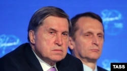 Russian presidential aide Yury Ushakov (left) said a summit will be held this year.