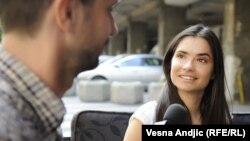 Marija Karan tokom razgovora sa novinarom RSE Zoranom Glavonjićem