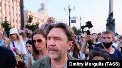 Сяргей Шнураў на мітынгу ў Хабараўску 27 ліпеня 2020