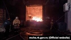 Пожар в Симферополе, архивное фото