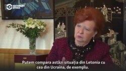 Vaira Vīķe-Freiberga: Mi-a fost teamă ca Letonia să nu ajungă în situația Ucrainei