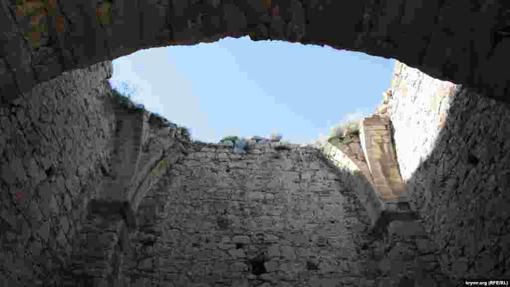 Доковая башня, вид изнутри