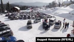 Парковка у горнолыжного курорта