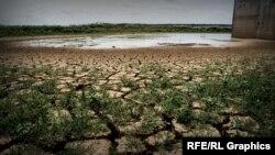 Міжгірне водосховище Криму, червень 2020 року