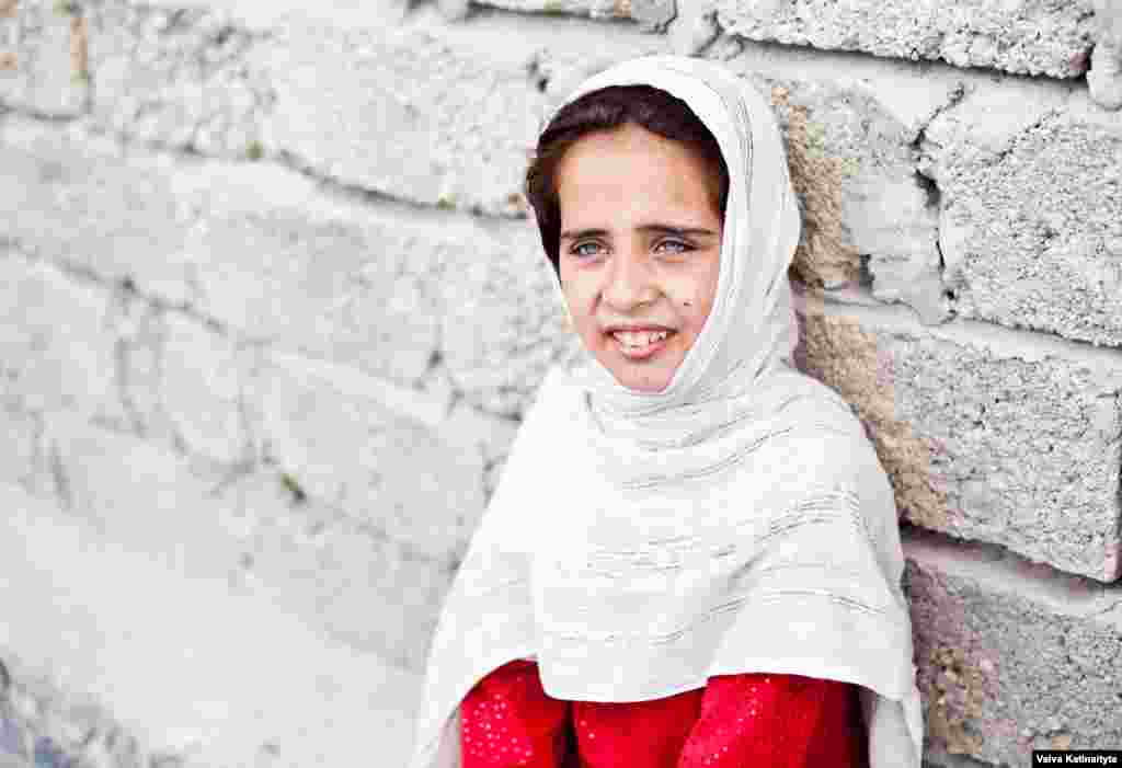 Eight-year-old Negin fled the Pakistani city of Gujrat two months ago with her parents and two sisters.