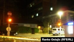 Hücuma məruz qalmış polis məntəqəsi