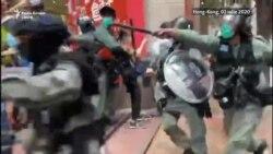 Intervenție în forță a poliției, arestări în masă în Hong Kong