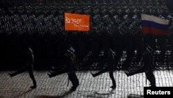Մայիսի 9-ի շքերթի փորձը Մոսկվայի Կարմիր հրապարակում, 4-ը մայիսի, 2015թ.