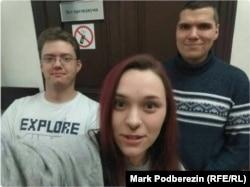 Сторонники Навального в здании Томского областного суда