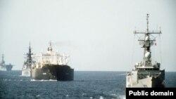 اسکورت نفتکش کویت توسط ناوهای آمریکا ۲۱ اکتبر ۱۹۸۷
