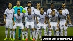 Azerbaijan -- football game Garabag vs. Twente, UEFA League, 21 August 2014.