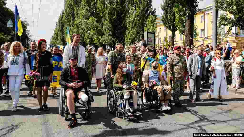 Поранені військові із київського військового госпіталю