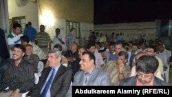 جانب من احتفال صحفيي البصرة بقانون حقوق الصحفيين