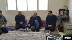Ali Shamkhani (C), Iranian security official, visiting the family of a teenager shot dead during November protests in Iran. December 12, 2019