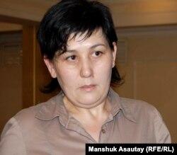 Руководитель профсоюза финансистов Дильнар Инсенова.