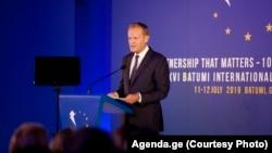 Как и ранее, президент Евросовета заверил Грузию в приверженности ЕС к территориальной целостности и содействии евроатлантическому курсу Грузии