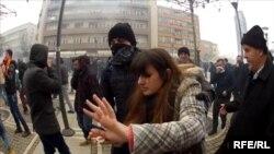 На улицах Приштины 27 января 2015 года