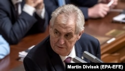 Czech President Milos Zeman has just won another five-year term. (file photo)