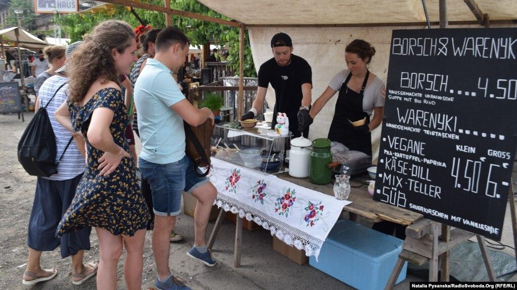 «Борщ і вареники» на берлінському ринку
