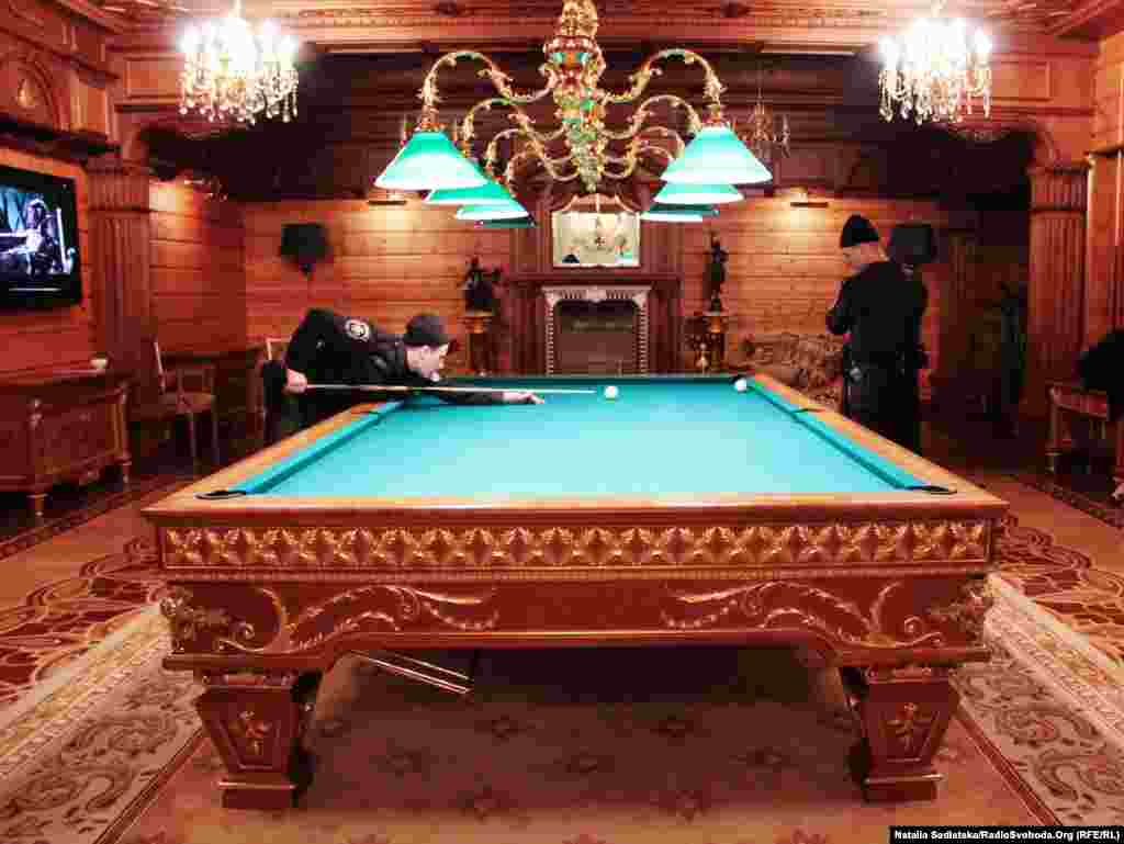 Interior Ministry forces play billiards.