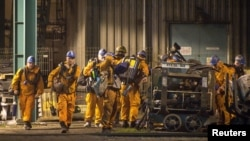 Спасательные работы после взрыва на угольной шахте в г. Карвина, Чехия, 20 декабря 2018 года