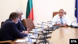 Костадин Ангелов, Кирил Ананиев и Бойко Борисов в Министерския съвет