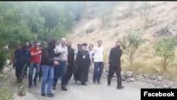 Католикос всех армян Гарегин Второй в Вайоцдзорской области, 14 июля 2018 г․