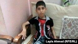 الطفل المعاق محمود حسن موسى