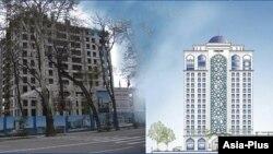 """Гостиница """"Исмоили Сомони"""" в Душанбе строится более 14 лет"""