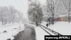 Симферополь после снегопада, 13 февраля 2021 года