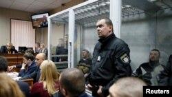 Бывшие сотрудники подразделения «Беркут», обвиняемые в убийстве участников Евромайдана. Киев, 28 ноября 2016 года.
