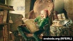 Адольф Шродтэр, «Дон Кіхот чытае раманы», 1834