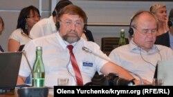 Aqyardaki Rusiye jurnalistler birligi teşkilâtınıñ yolbaşçısı Sergey Gorbaçov 2017 yılınıñ iyuninde OSCE konferentsiyasında