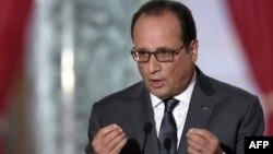 Франция президенті Франсуа Олланд. Париж, 7 қыркүйек 2015 жыл.