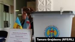 Voting box in Gagauzia's capital, Comrat
