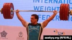 Казахстанский тяжелоатлет двукратный олимпийский чемпион, четырехкратный чемпион мира Илья Ильин.