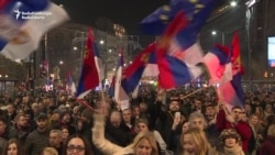 Protesters March For 11th Consecutive Week Through Belgrade